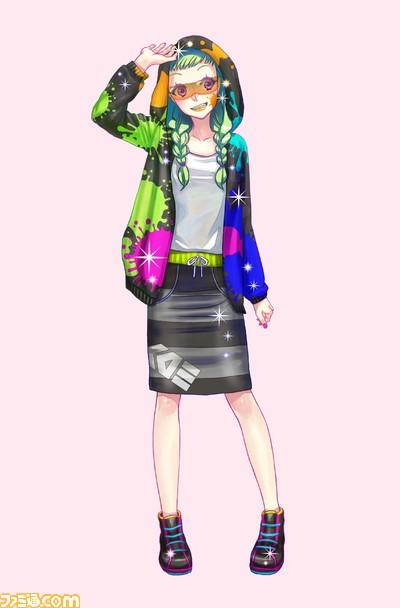 girls mode 3 キラキラ コーデ と splatoon スプラトゥーン が