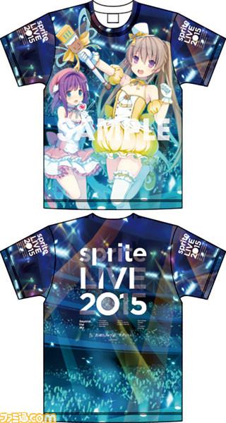 sprite LIVE 2015 フルグラフィックTシャツ(真白&莉佳)フリーサイズ